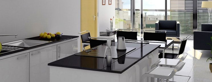 Đá nhân tạo sẽ giúp không gian phòng bếp của bạn mang vẻ đẹp hiện đại, ấm áp và thể hiện được đẳng cấp của bạn.