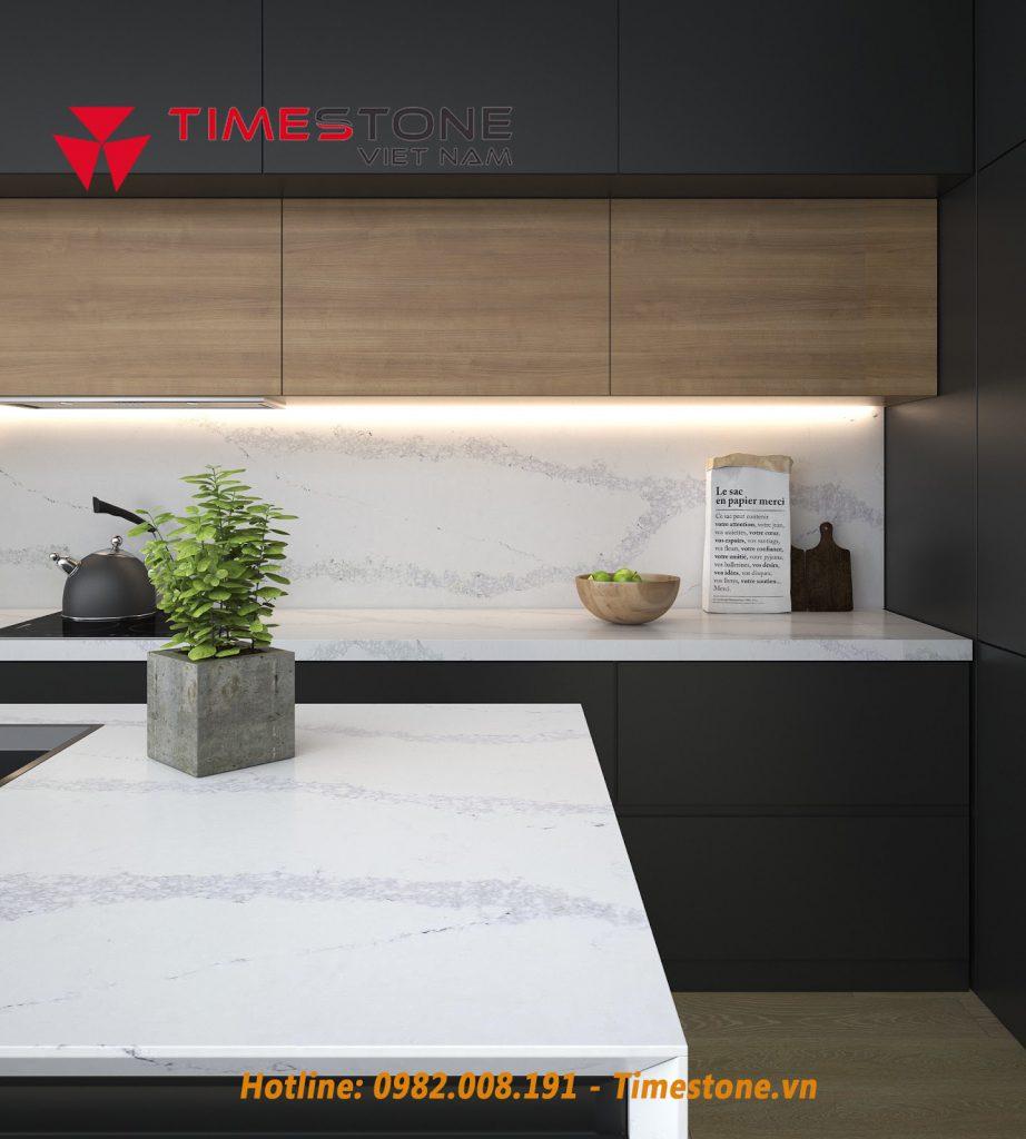 Cách chọn đá nhân tạo gốc thạch anh phù hợp với mọi phong cách nội thất bếpv