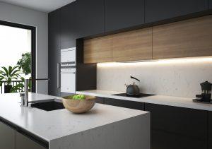 Đá nhân tạo gốc thạch anh Empirestone trở thành xu hướng trong thiết kế không gian phòng bếp