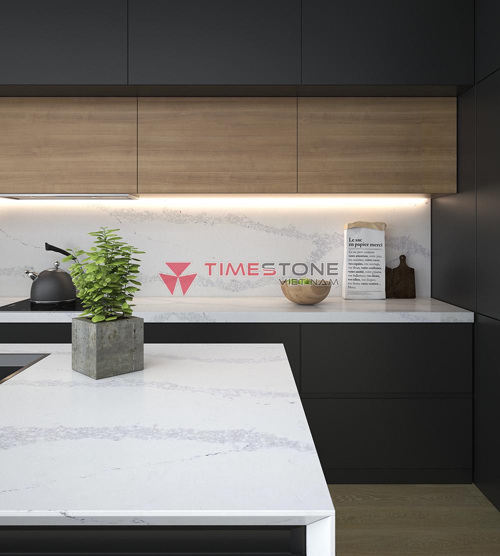 Đá nhân tạo Empirestone được đánh giá cao nhờ khả năng chịu nhiệt tốt, chống sốc nhiệt.