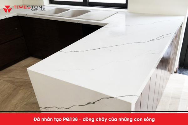 Đá nhân tạo PQ138 gốc thạch anh mang lại sự sang trọng, đẳng cấp cho gian bếp timestone.vn