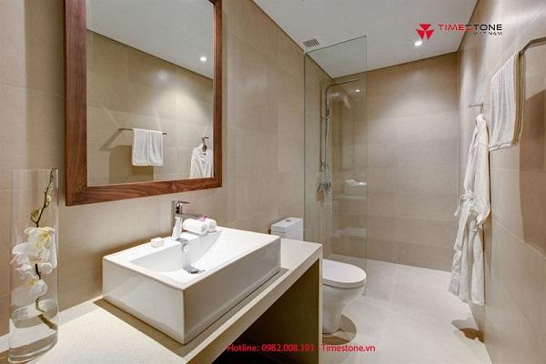 3 ưu điểm khi dùng đá nhân tạo gốc thạch anh làm lavabo