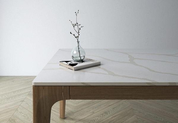 Nội thất từ đá trắng nhân tạo vân cây trở thành xu hướng lựa chọn của gia đình hiện đại