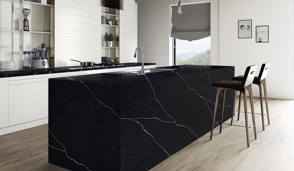 Các mẫu đá nhân tạo gốc thạch anh vân cây được ưa chuộng trong không gian bếp