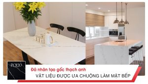 Đá nhân tạo gốc thạch anh - Vật liệu được ưa chuộng làm mặt bếp timestone.vn