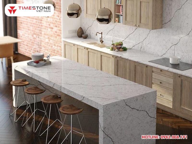 Lưu ngay bí quyết chọn lựa đá nhân tạo gốc thạch anh phù hợp với từng phong cách nhà bếp