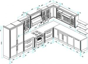 Gợi ý các kích thước bàn bếp, bàn đảo, tủ bếp chuẩn phong thuỷ