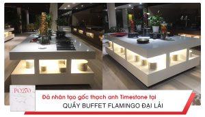 Quầy Buffet Flamingo Đại Lải sang trọng với đá nhân tạo gốc thạch anh timestone.vn