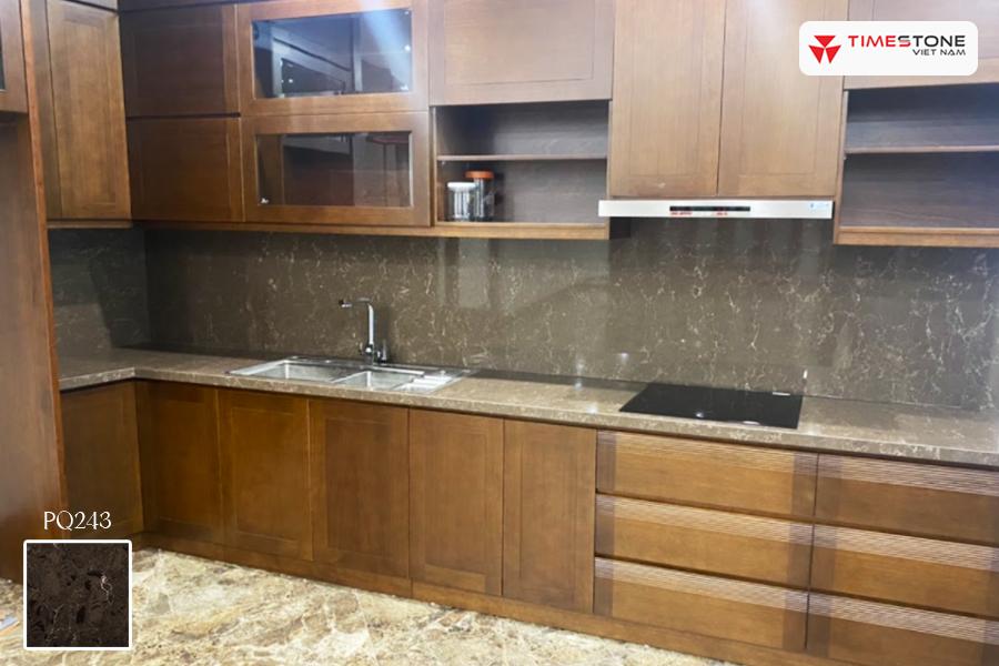Đá nhân tạo gốc thạch anh PQ243 phong cách Âu cho căn bếp timestone.vn