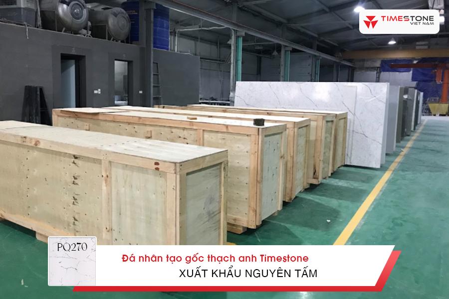 Đá nhân tạo gốc thạch anh PQ270 xuất khẩu nguyên tấm timestone.vn